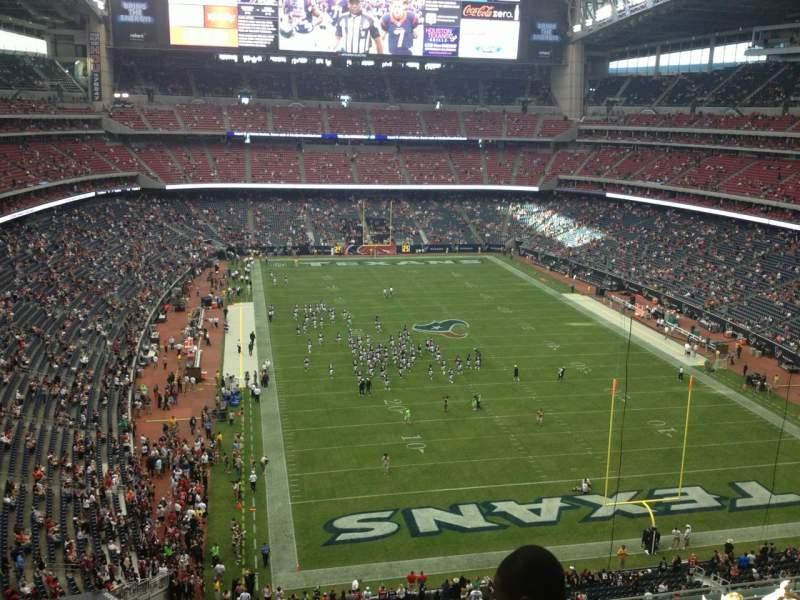 Vista sentada para NRG Stadium Secção 549 Fila H Lugar 15