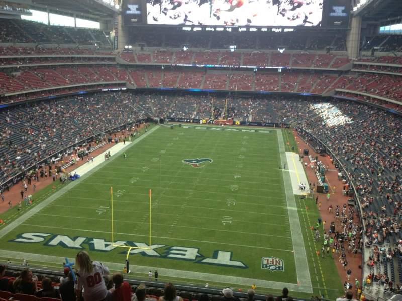 Vista sentada para NRG Stadium Secção 546 Fila M Lugar 4
