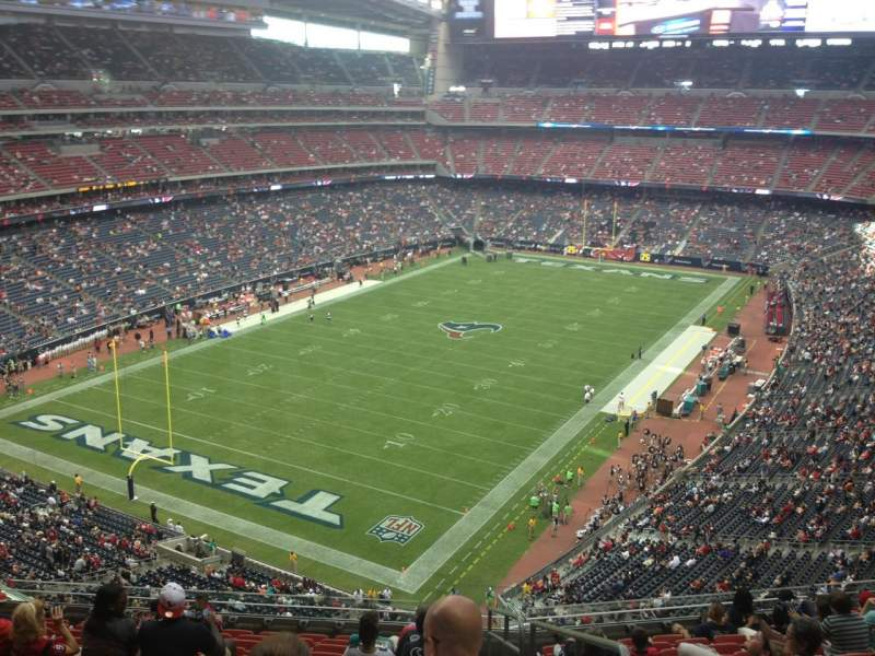 Vista sentada para NRG Stadium Secção 540 Fila M Lugar 21