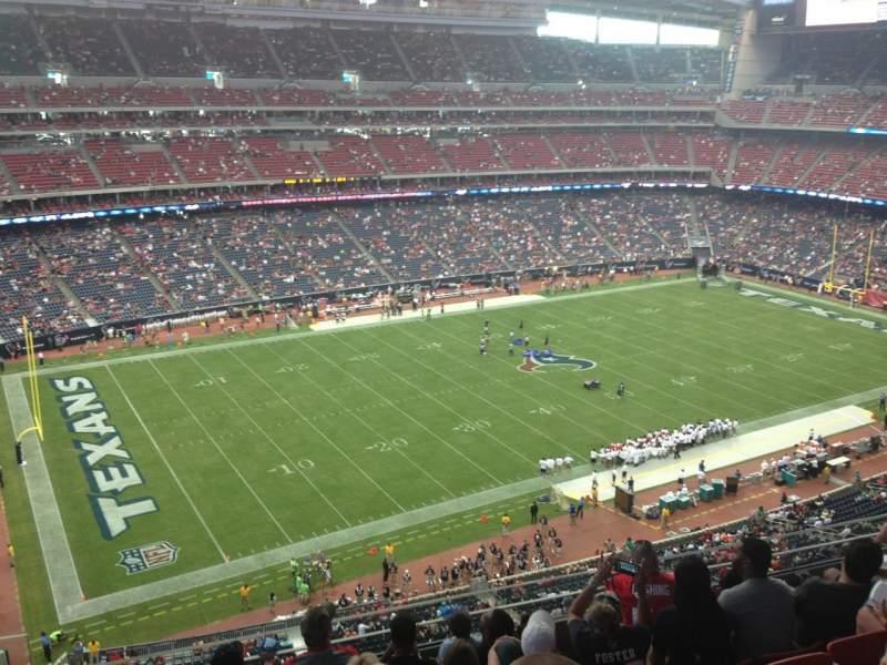 Vista sentada para NRG Stadium Secção 538 Fila M Lugar 26