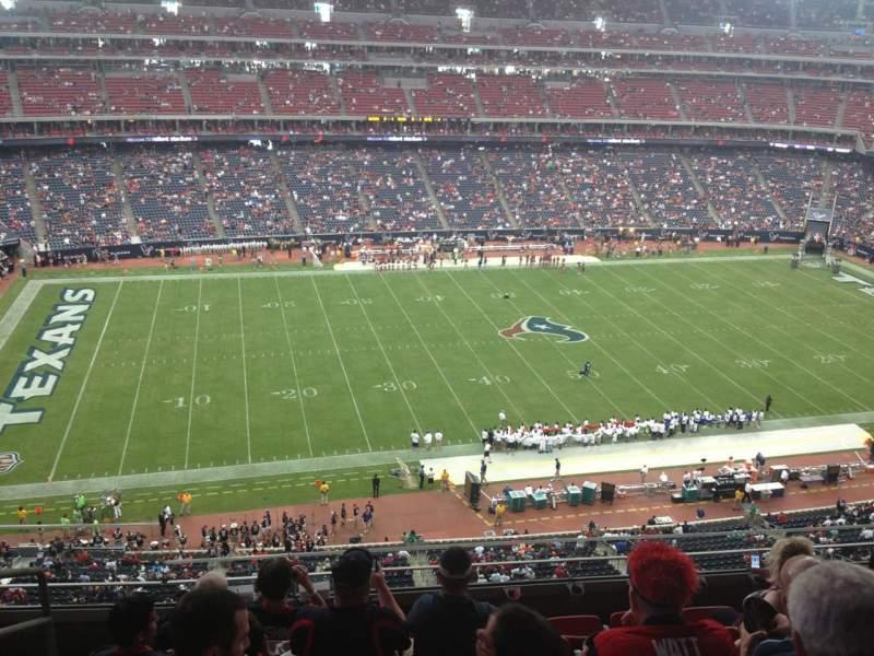 Vista sentada para NRG Stadium Secção 536 Fila M Lugar 25
