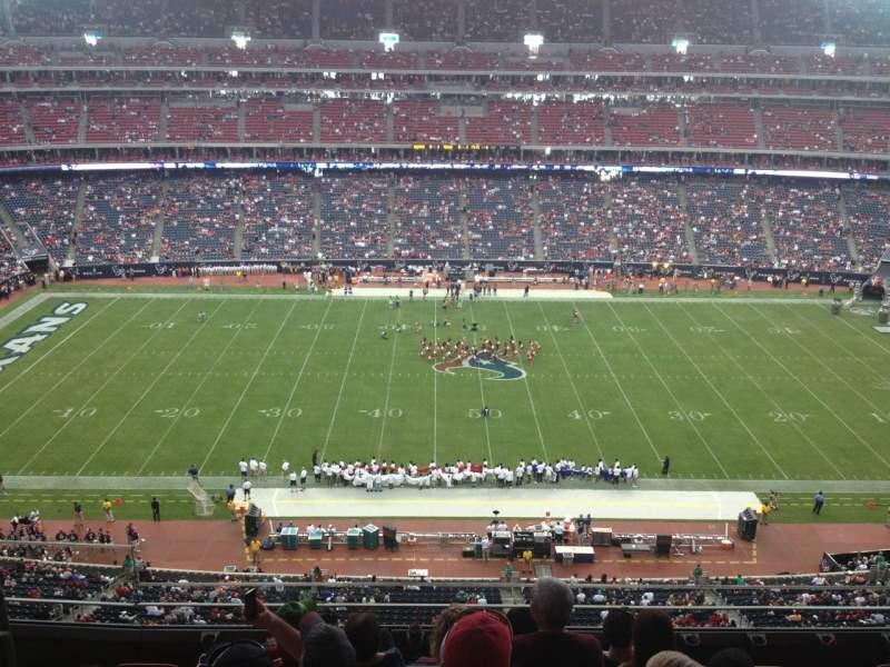 Vista sentada para NRG Stadium Secção 534 Fila M Lugar 23