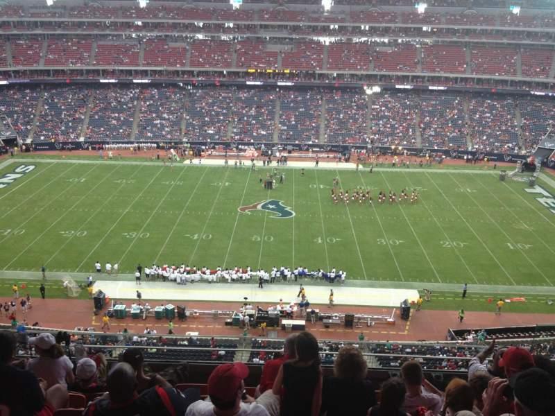 Vista sentada para NRG Stadium Secção 534 Fila M Lugar 6