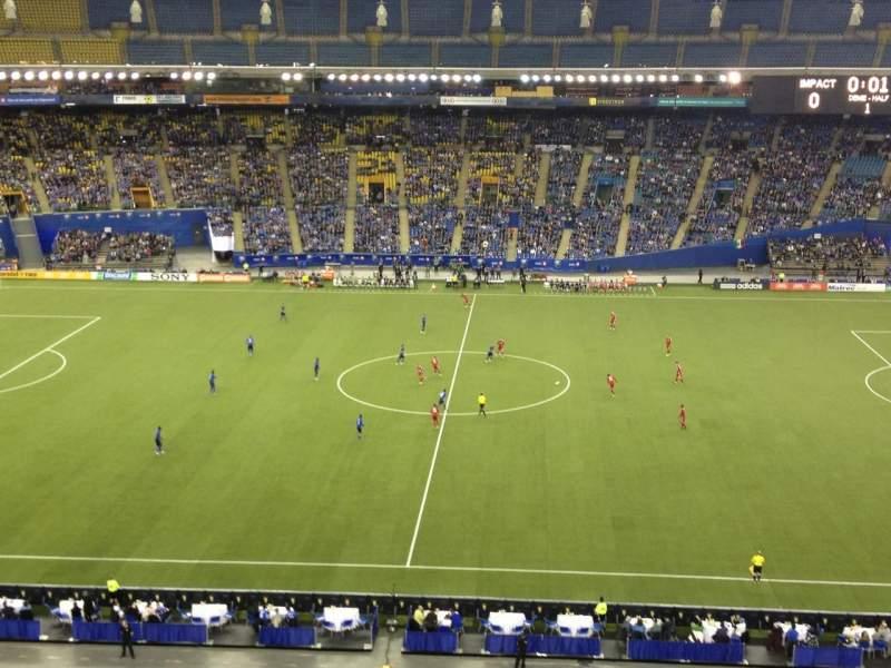 Vista sentada para Olympic Stadium, Montreal Secção 441 Fila DD Lugar 5