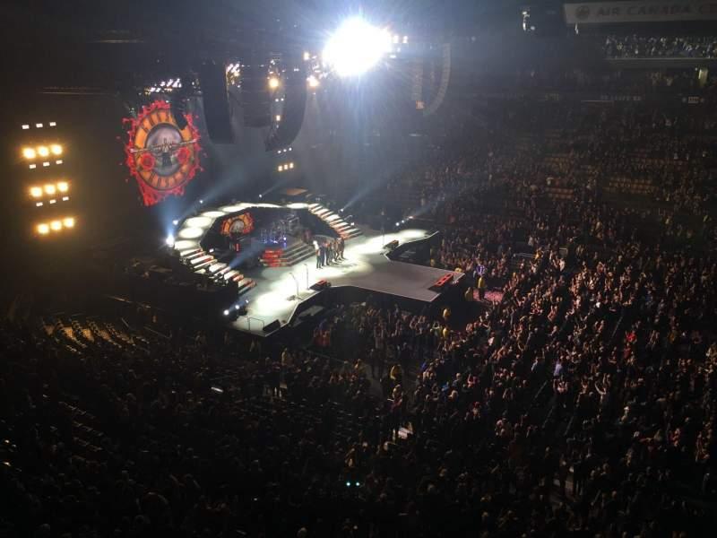 Vista sentada para Scotiabank Arena Secção 309 Fila 1 Lugar 7