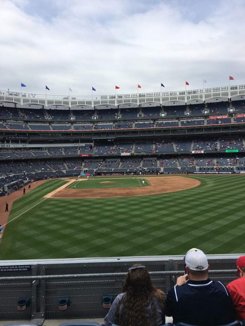 Vista sentada para Yankee Stadium Secção 206 Fila 4 Lugar 15