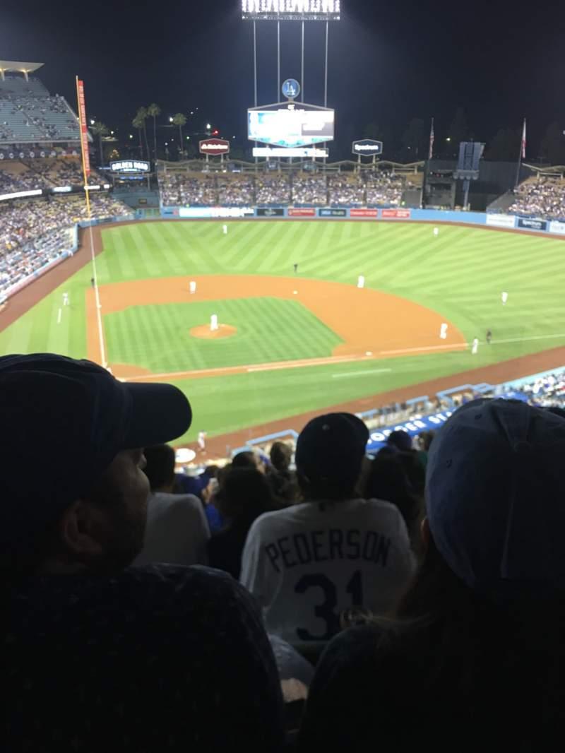 Vista sentada para Dodger Stadium Secção 8RS Fila L Lugar 10