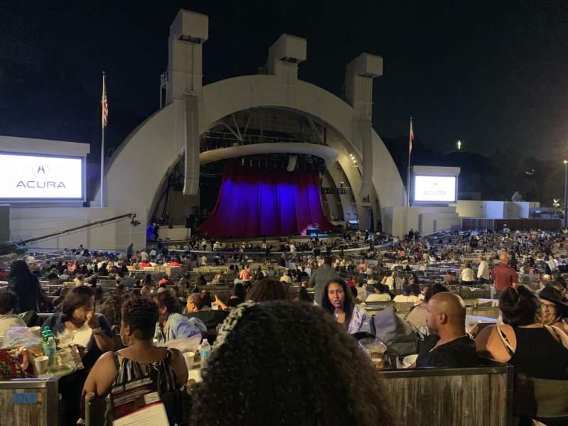 Vista sentada para Hollywood Bowl Secção Terrace Box 1464 Fila 6