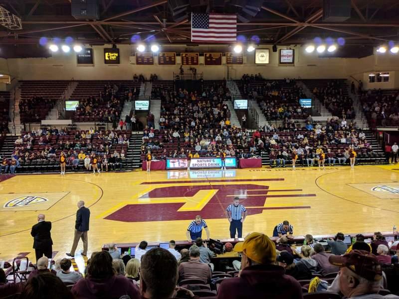 Vista sentada para McGuirk Arena Secção 114 Fila J Lugar 12
