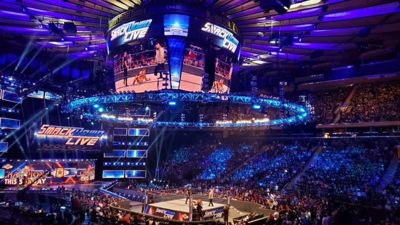 Vista sentada para Madison Square Garden Secção 119 Fila 14 Lugar 12