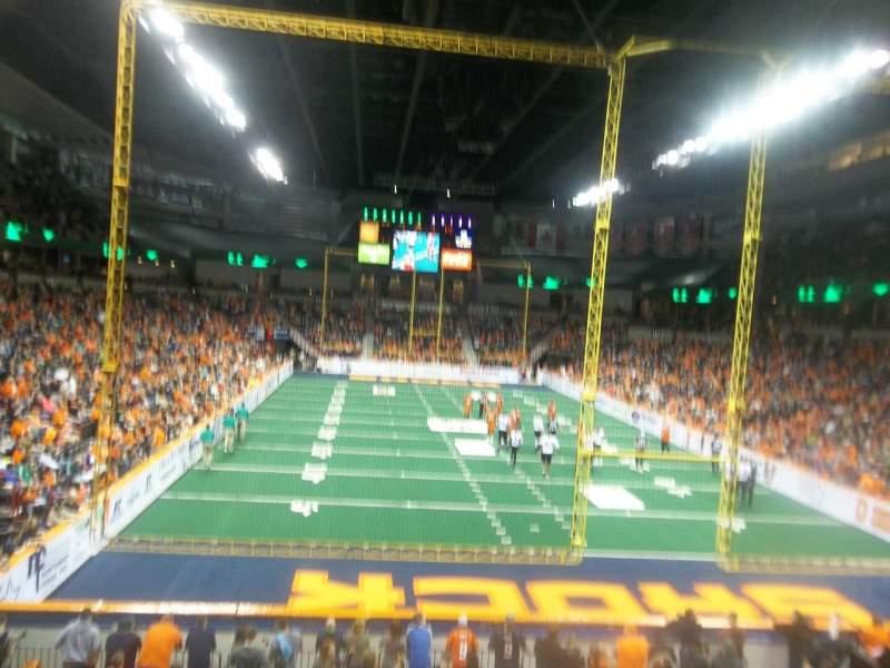 Vista sentada para Spokane Arena Secção 121 Fila S  Lugar 4