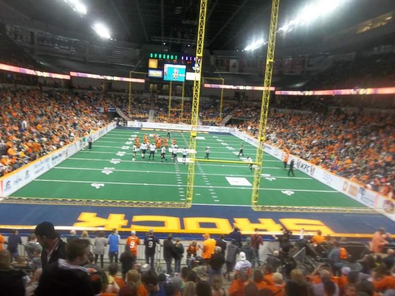 Vista sentada para Spokane Arena Secção 122 Fila S Lugar 16