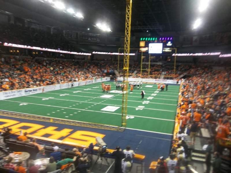 Vista sentada para Spokane Arena Secção 123 Fila T Lugar 4