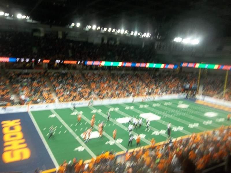 Vista sentada para Spokane Arena Secção 201 Fila M Lugar 17