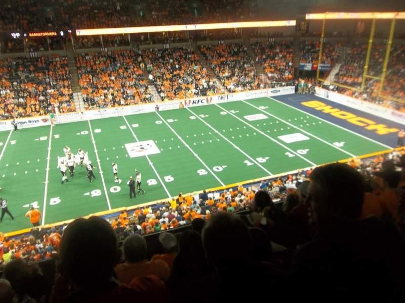 Vista sentada para Spokane Arena Secção 203 Fila K Lugar 11