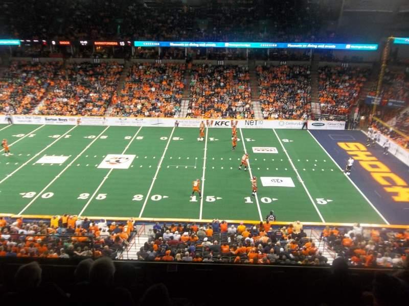 Vista sentada para Spokane Arena Secção 205 Fila K Lugar 19