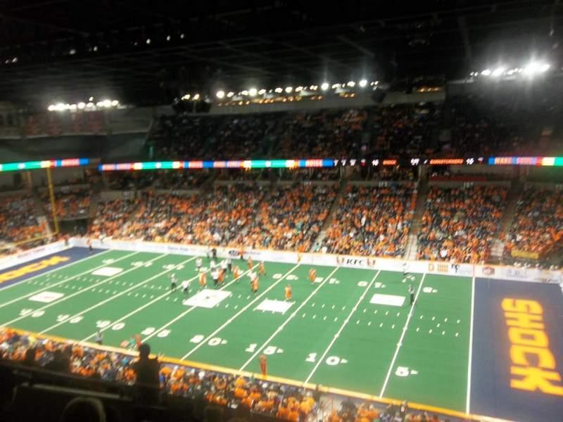 Vista sentada para Spokane Arena Secção 218 Fila L Lugar 2