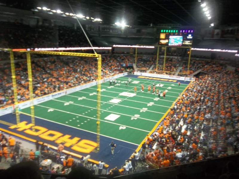 Vista sentada para Spokane Arena Secção 224 Fila M Lugar 4