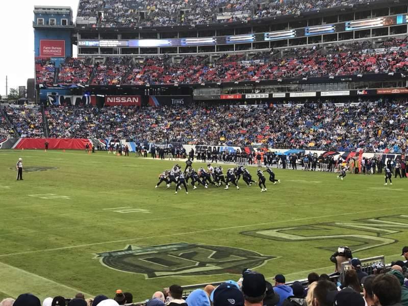 Vista sentada para Nissan Stadium Secção 104 Fila P Lugar 9