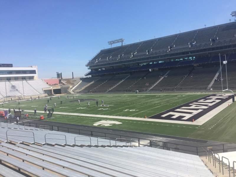 Vista sentada para Bill Snyder Family Stadium Secção 9 Fila 25 Lugar 25