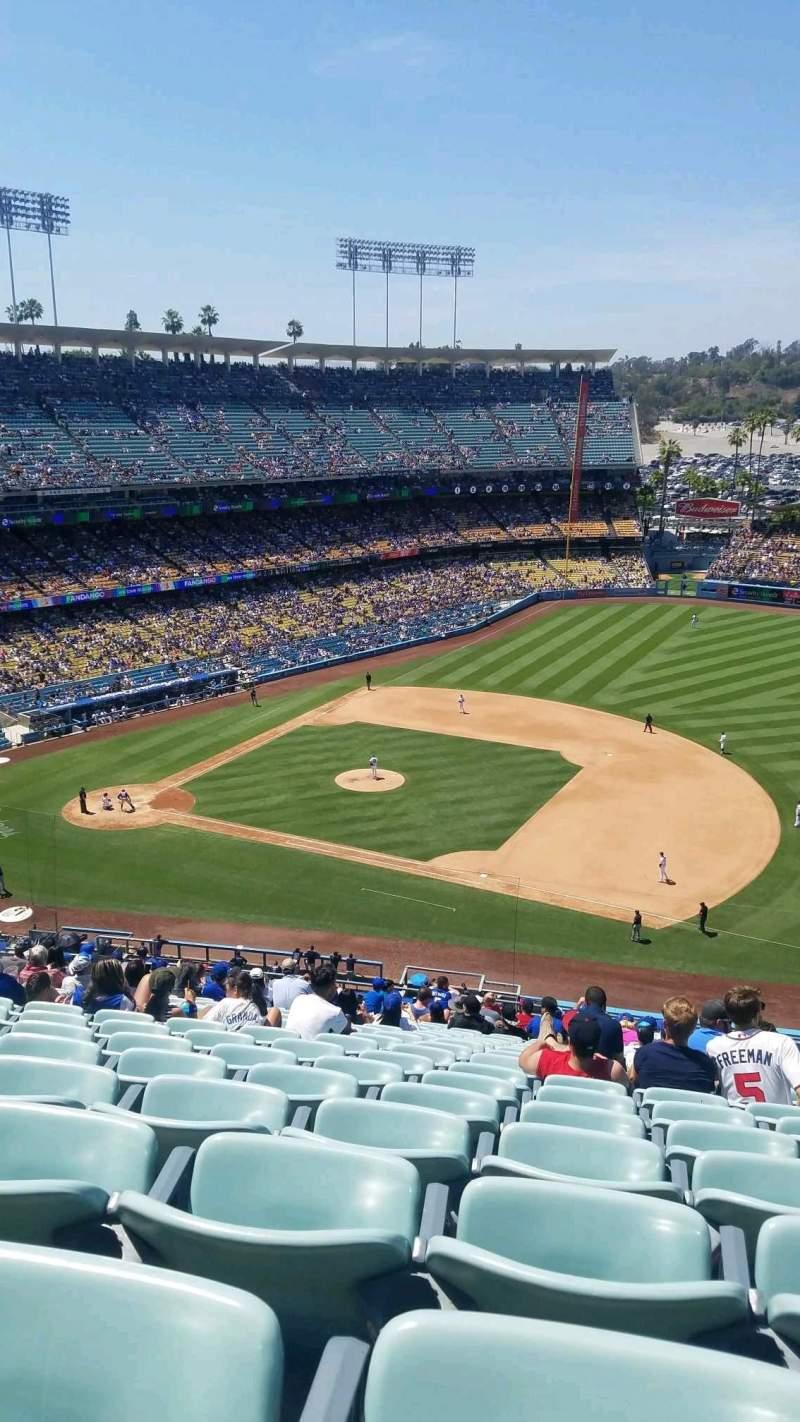 Vista sentada para Dodger Stadium Secção 24RS Fila V Lugar 16