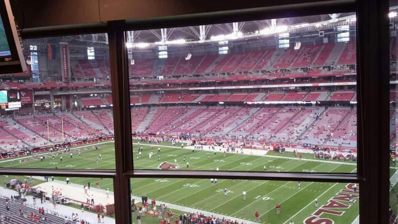 Vista sentada para State Farm Stadium