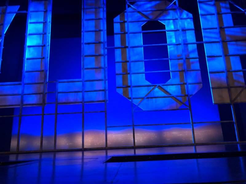 Vista sentada para Nederlander Theatre Secção Orchestra C Fila A Lugar 107