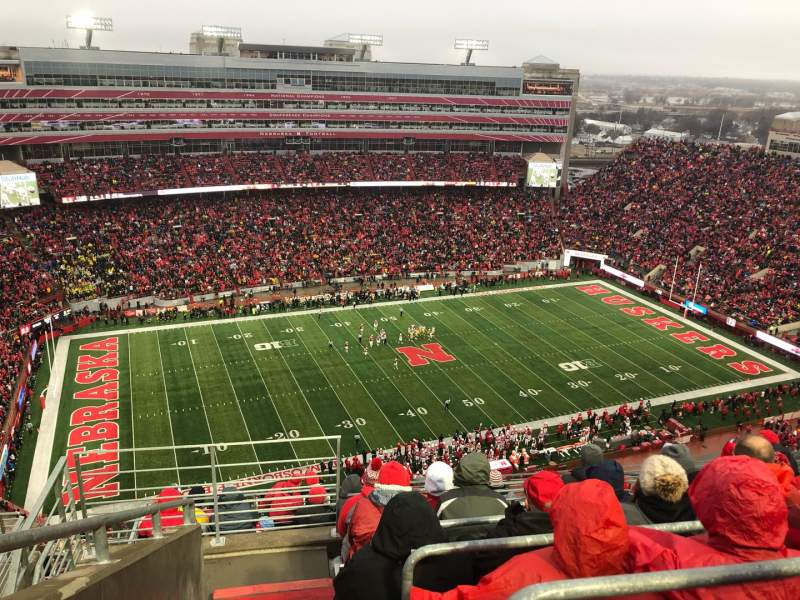 Vista sentada para Memorial Stadium (Lincoln) Secção 610 Fila 9 Lugar 19
