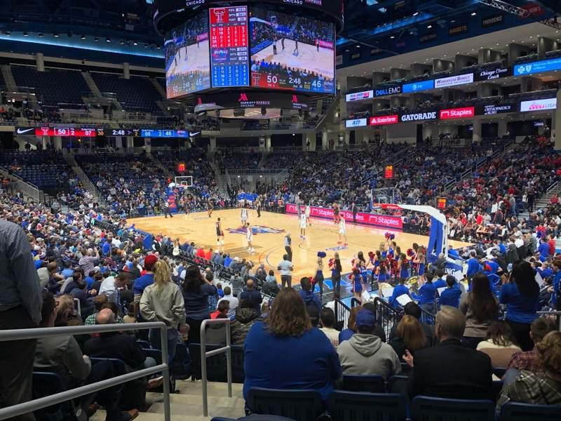 Vista sentada para Wintrust Arena Secção 120 Fila M Lugar 12