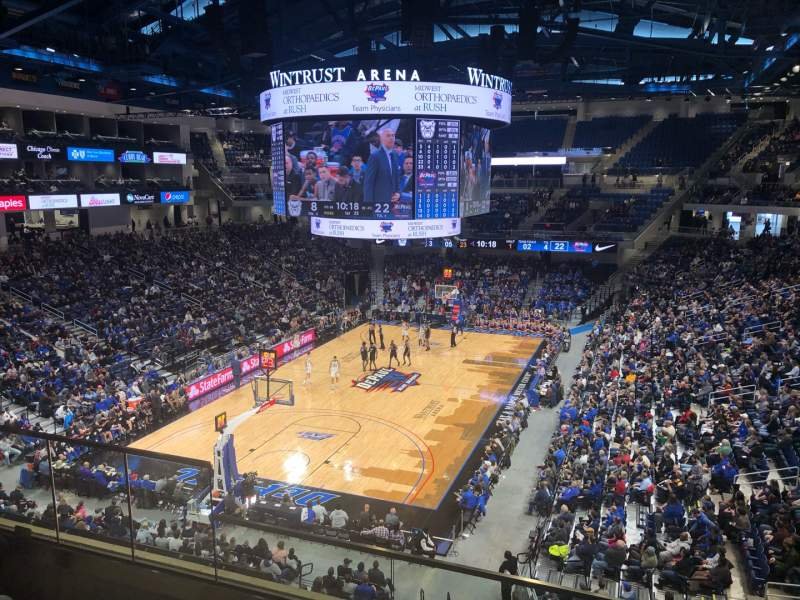 Vista sentada para Wintrust Arena Secção 201 Fila D Lugar 5