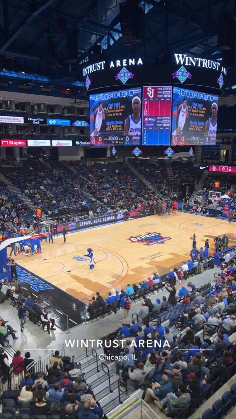Vista sentada para Wintrust Arena Secção 228 Fila A Lugar 6