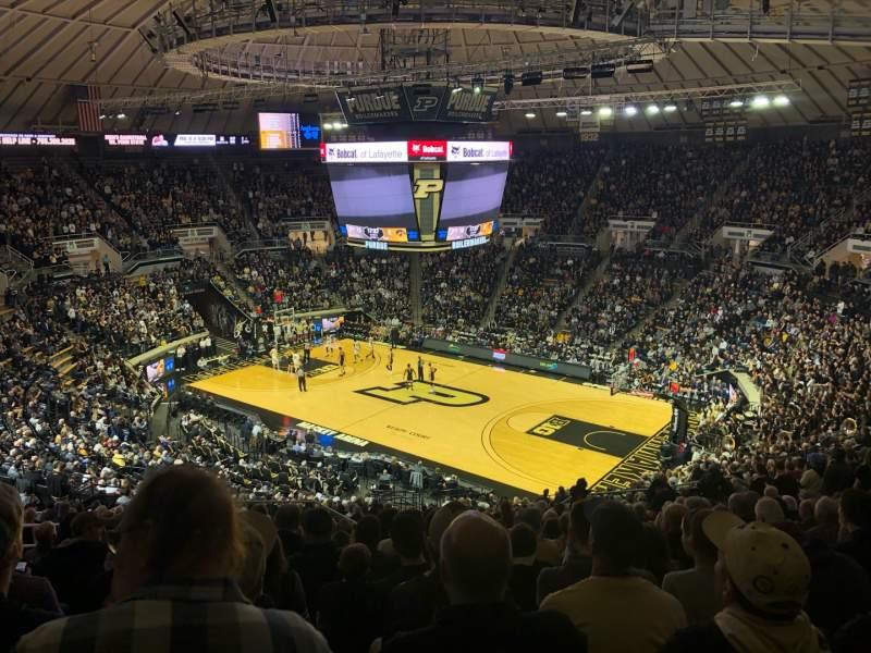 Vista sentada para Mackey Arena Secção 108 Fila 22 Lugar 18