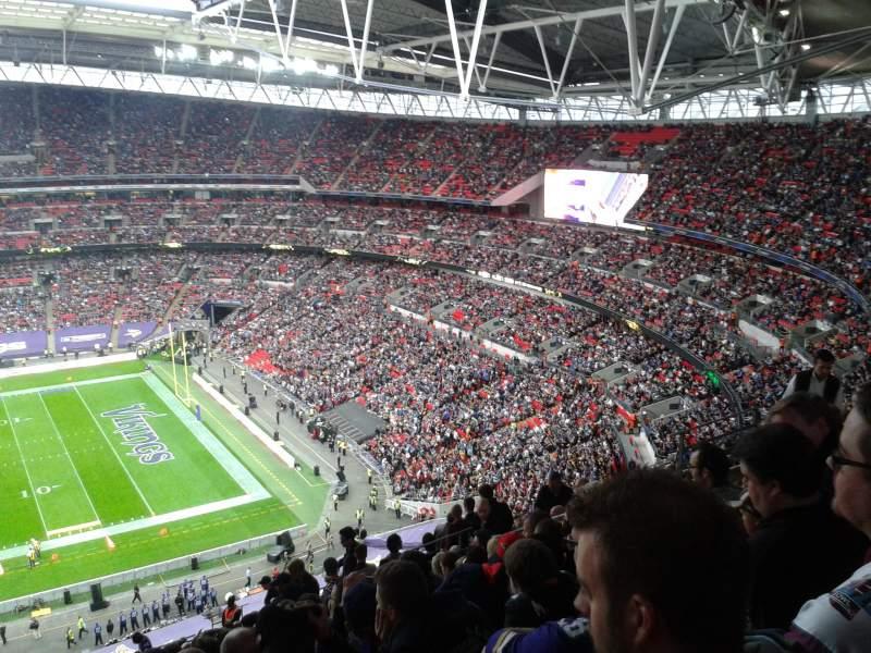 Vista sentada para Wembley Stadium Secção 524 Fila 25 Lugar 333