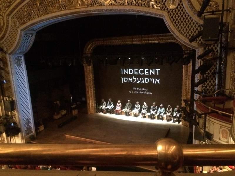 Vista sentada para Cort Theatre Secção Balcony R Fila A Lugar 10