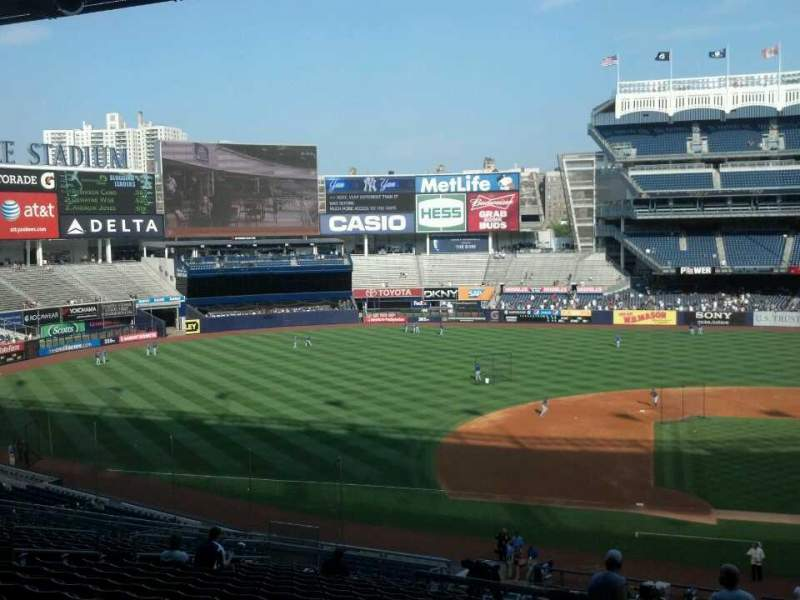 Vista sentada para Yankee Stadium Secção 225 Fila 19 Lugar 2