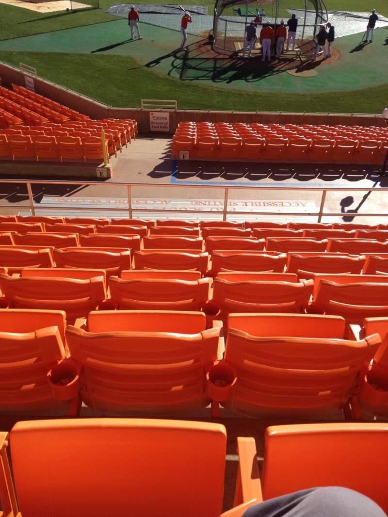 Vista sentada para Doug Kingsmore Stadium Secção UF Fila H Lugar 16,17,18,19