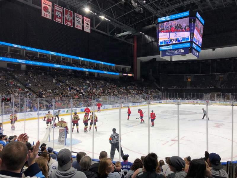 Vista sentada para VyStar Veterans Memorial Arena Secção 109 Fila D Lugar 10