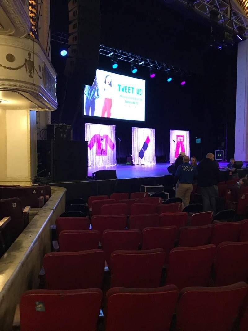 Vista sentada para Orpheum Theatre (Boston) Secção Orchestra L Fila OO Lugar 13