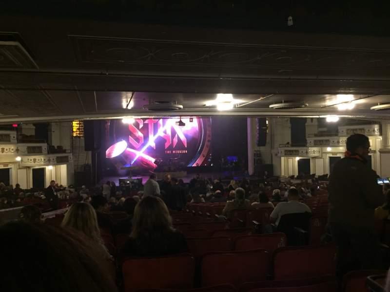 Vista sentada para Orpheum Theatre (Boston) Secção Orchestra LC Fila X Lugar 107