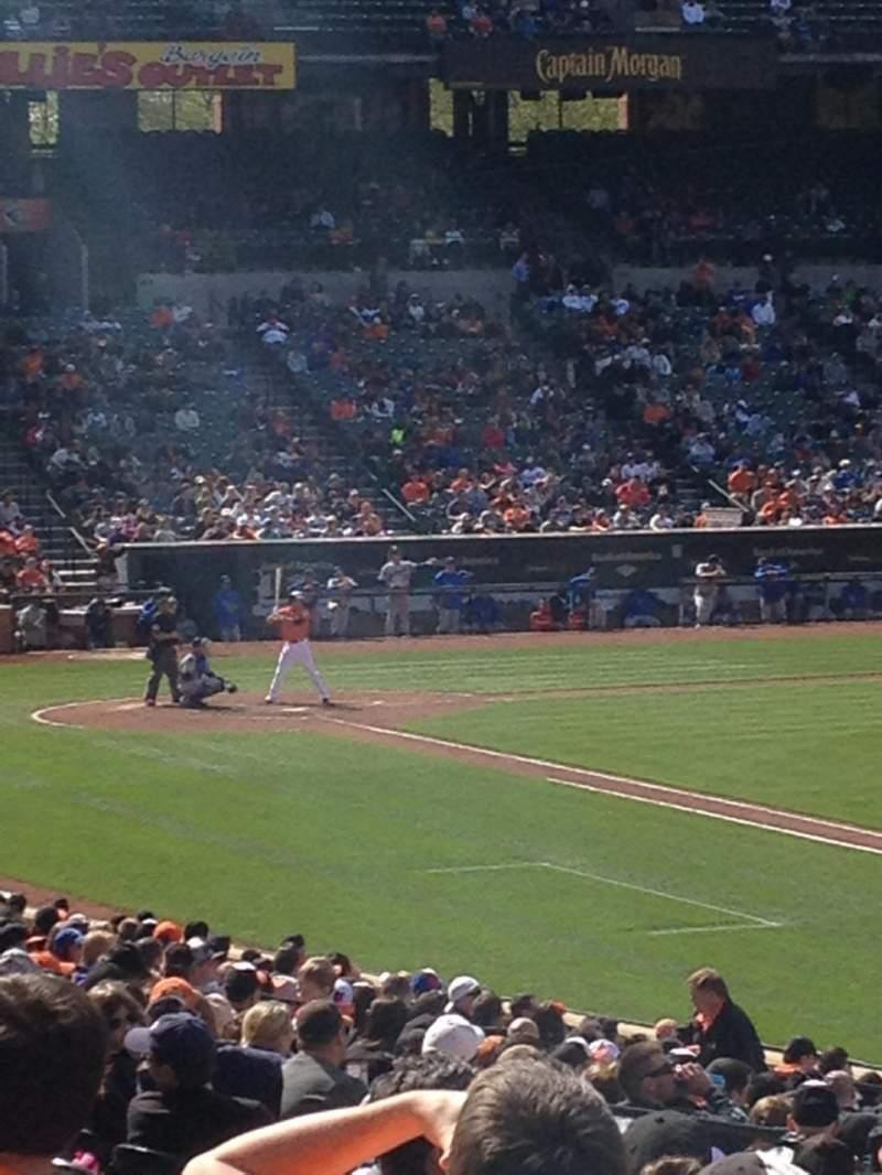 Vista sentada para Oriole Park at Camden Yards Secção 10 Fila 26 Lugar 18