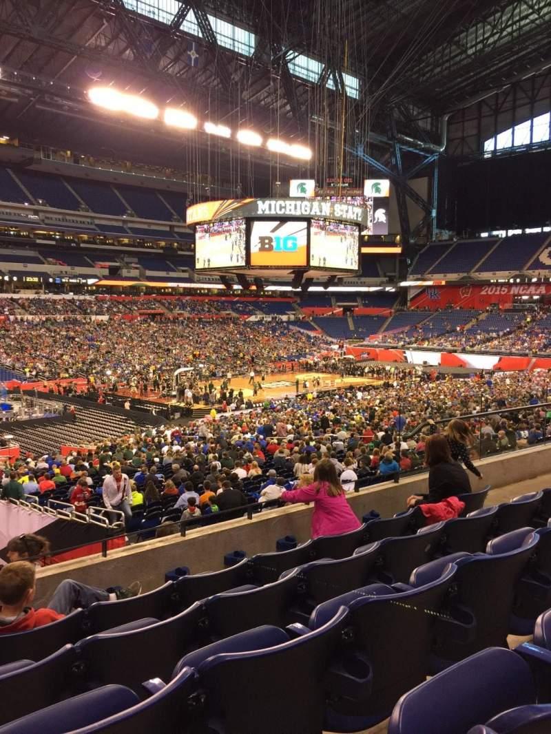 Vista sentada para Lucas Oil Stadium Secção 218 Fila 5 Lugar 10