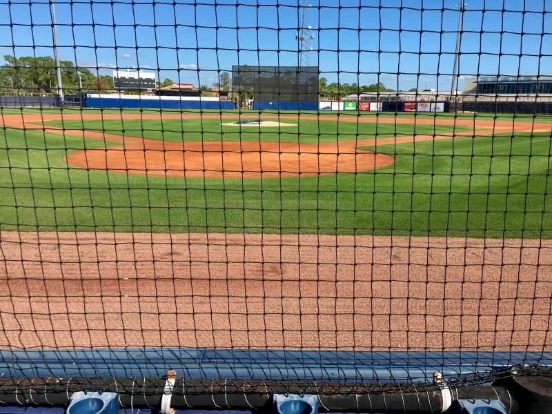 Vista sentada para Charlotte Sports Park Secção 108 Fila 2 Lugar 6