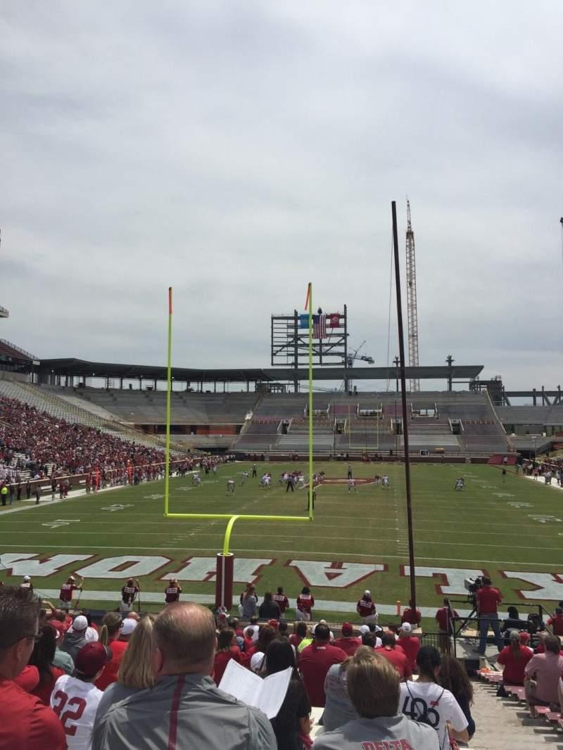 Vista sentada para Gaylord Memorial Stadium Secção 17 Fila 28 Lugar 2
