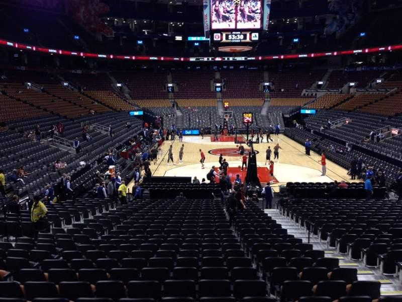 Vista sentada para Scotiabank Arena Secção 114 Fila 18 Lugar 6