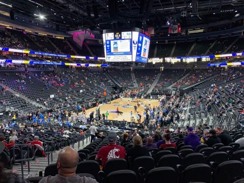 Vista sentada para T-Mobile Arena Secção 2 Fila W Lugar 3
