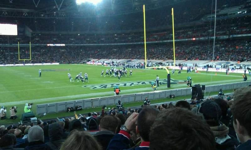 Vista sentada para Wembley Stadium Secção 135 Fila 20 Lugar 57