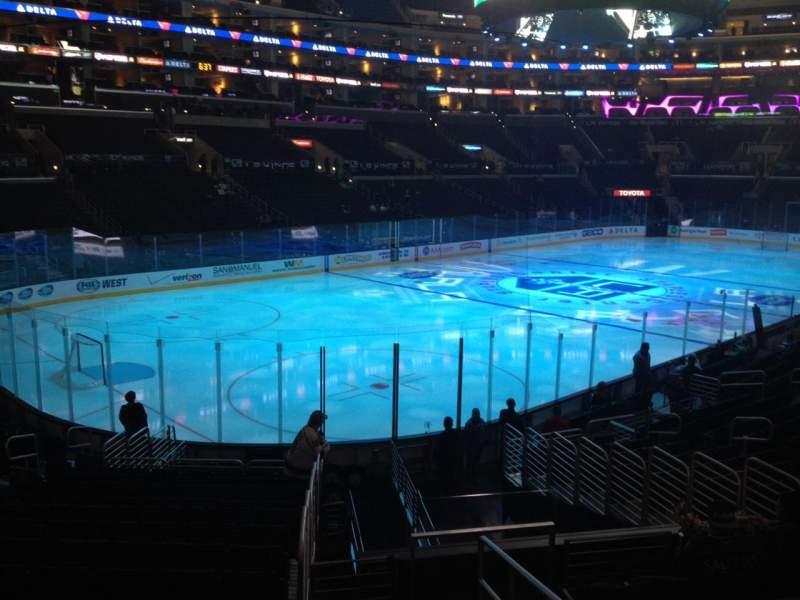 Vista sentada para Staples Center Secção 105 Fila 20 Lugar 1