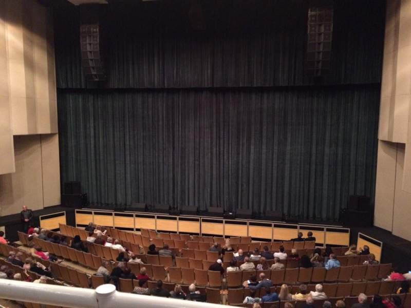 Vista sentada para King Center for the Performing Arts Secção Grand Tier Fila AA Lugar 21