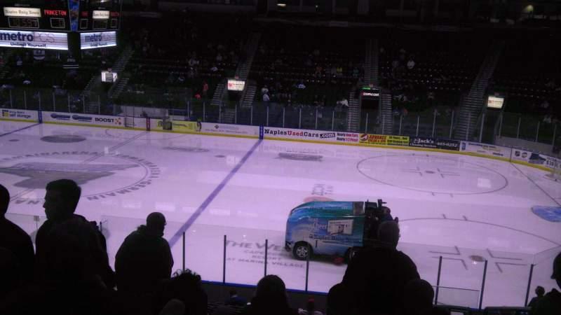 Vista sentada para Hertz Arena Secção 120 Fila 18 Lugar 4