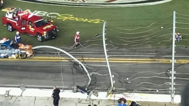 Vista sentada para Daytona International Speedway Secção 366 Fila 1 Lugar 10